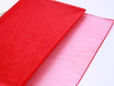 Red - Organza Overlay  - ( W: 28 inch | L: 216 Inches )