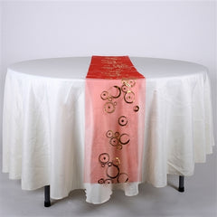 Organza Metallic Design Table Runner