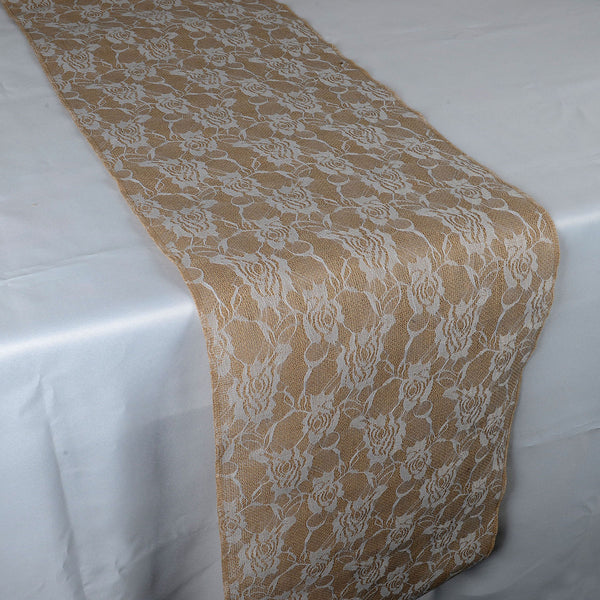 Calla Lili - Burlap Table Runner ( 14 inch x 108 inches )