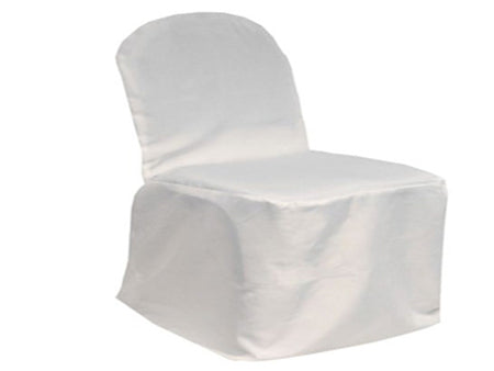 White - Banquet Chair Cover Poly - ( Chair Cover )