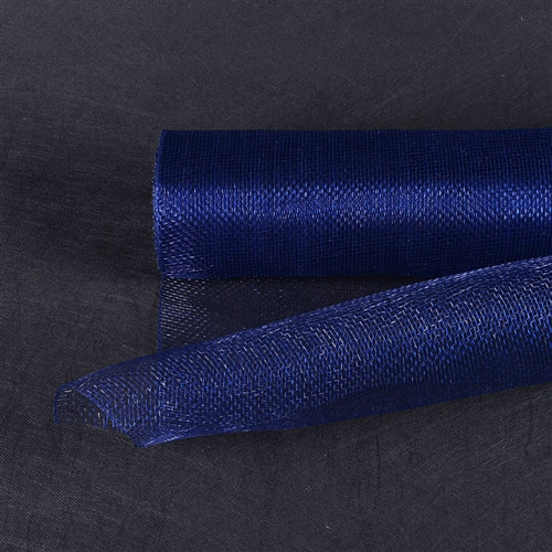 Navy Blue  - Floral Mesh Wrap Solid Color -  ( 21 Inch x 10 Yards )