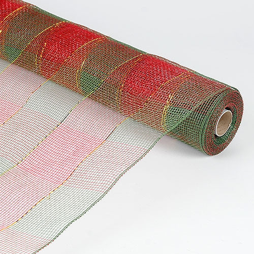 Hunter  - Christmas Mesh Wraps -  ( 21 Inch x 10 Yards )