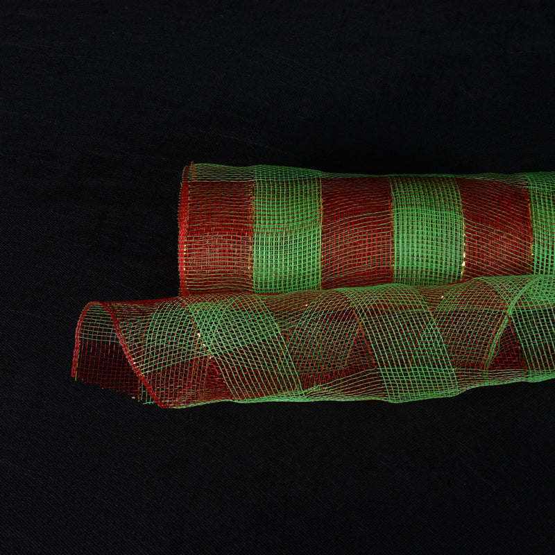 Green  - Christmas Mesh Wraps -  ( 21 Inch x 10 Yards )