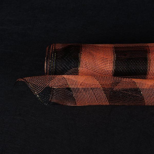 Orange with Black  - Christmas Mesh Wraps -  ( 21 Inch x 10 Yards )