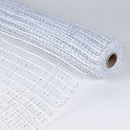 White  - Floral Oasis Mesh Wrap -  ( 21 Inch x 10 Yards )