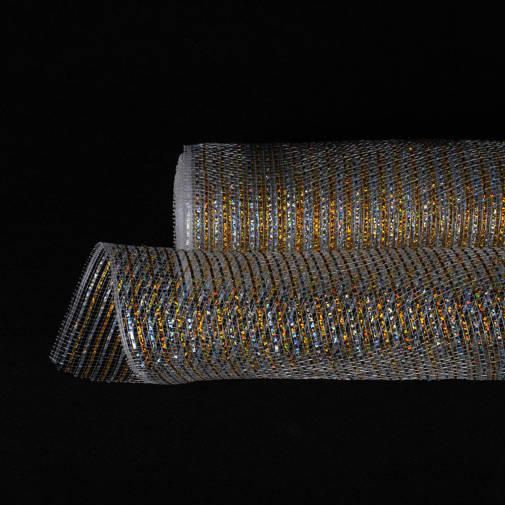 Silver Christmas Mesh - 21 Inch x 10 Yards