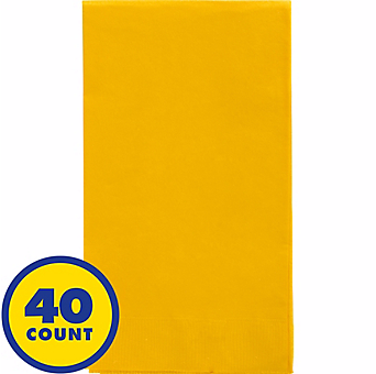 Yellow Party Pack Guest Towels 40pcs