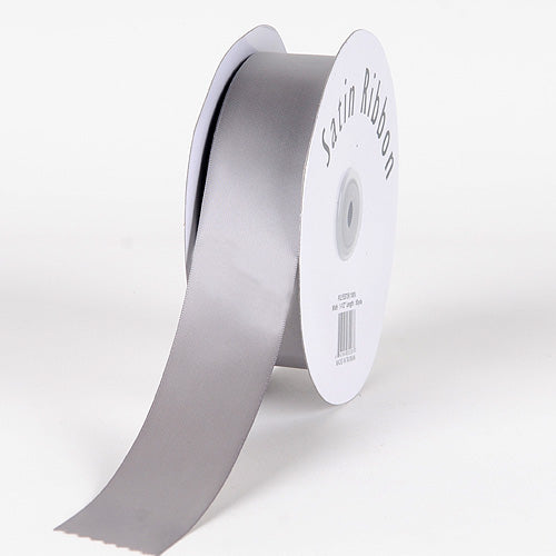 Silver - Satin Ribbon Single Face - ( 7/8 inch | 100 Yards )