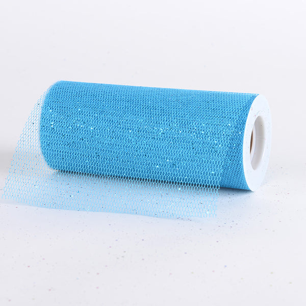 Turquoise - Premium Glitter Net - ( W: 6 Inch | L: 10 Yards )
