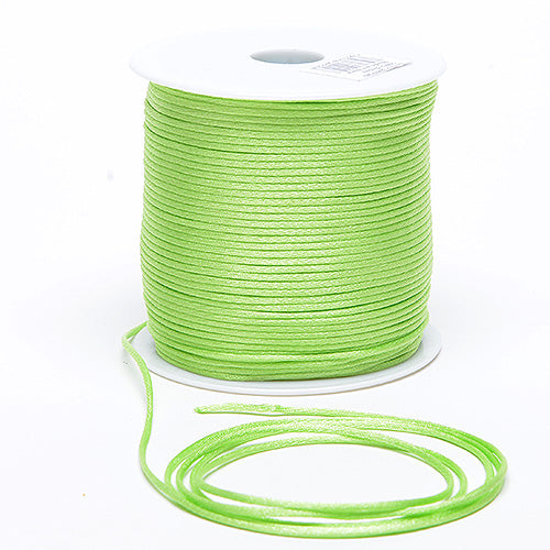 Mint - 3mm Satin Rat Tail Cord - ( 3mm x 100 Yards )