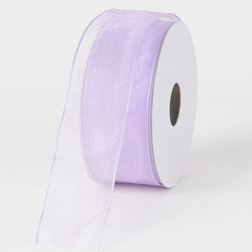 Lavender - Organza Ribbon Thin Wire Edge 25 Yards - ( 1-1/2 inch | 25 Yards )