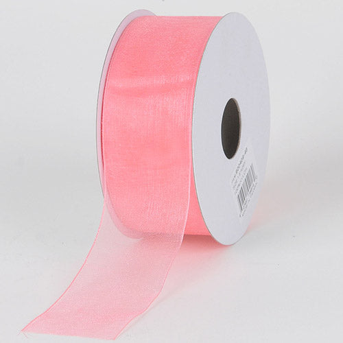 Peach - Sheer Organza Ribbon - ( 7/8 inch | 25 Yards )