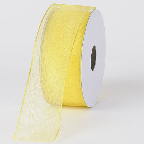 Daffodil - Organza Ribbon Thin Wire Edge 25 Yards - ( 1-1/2 inch | 25 Yards )