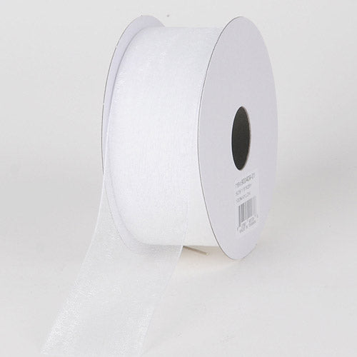 White - Sheer Organza Ribbon - ( 2-1/2 inch | 25 Yards )