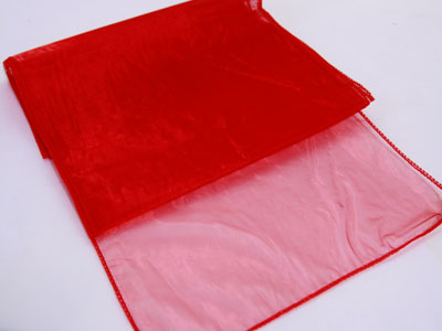 Red - Organza Table Runners - ( 14 inch x 108 inches )