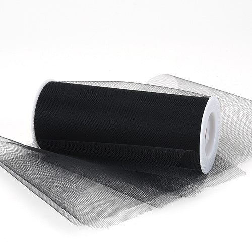 Black Premium Tulle Fabric ( 6 Inch | 25 Yards )