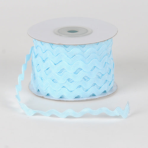 Light Blue - Ric Rac Trim - ( 7mm - 25 Yards )