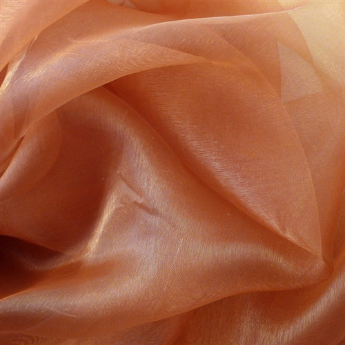 Copper - Wedding Organza Fabric Decor - ( W: 58 inch | L: 360 Inches )
