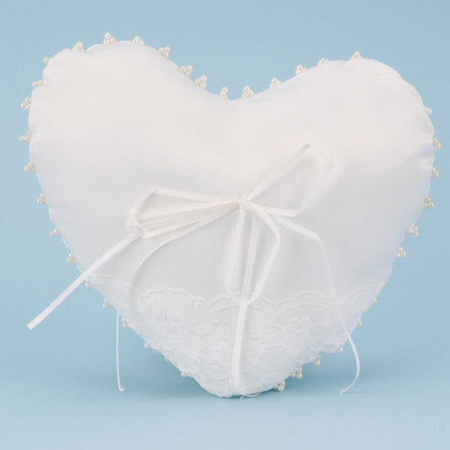 Ring Bearer Pillow White ( 8.5 Inch x 10 Inch )