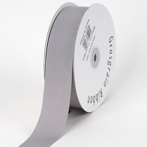 Silver - Grosgrain Ribbon Solid Color - ( W: 3/8 inch | L: 50 Yards )