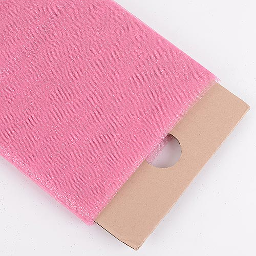 Shocking Pink Premium Glitter Tulle Fabric ( 54 inch | 10 Yards )