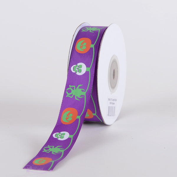 Purple - Halloween Ribbon - ( 5/8 inch x 25 yards )