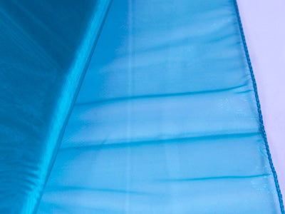 Teal - Organza Overlay  - ( W: 28 inch | L: 216 Inches )