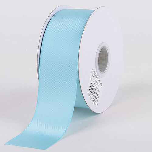 Aqua Blue - Satin Ribbon Double Face - ( W: 3/8 Inch | L: 25 Yards )