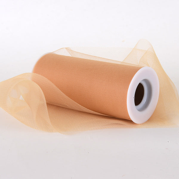 Old Gold Premium Tulle Fabric ( 6 Inch | 25 Yards )