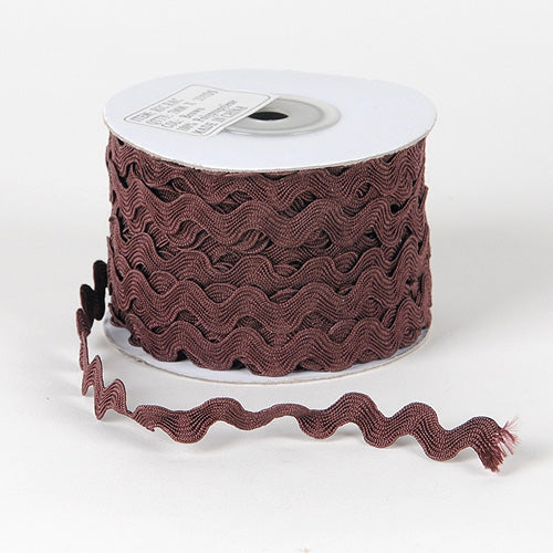 Brown - Ric Rac Trim - ( 7mm - 25 Yards )