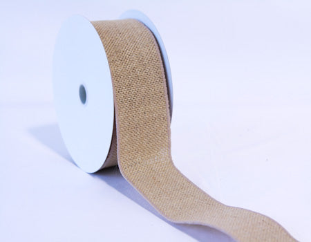 Natural - Burlap Ribbon - ( 2-1/2 inch | 10 Yards )