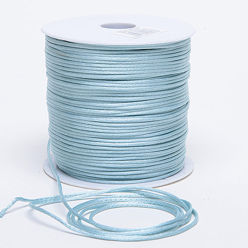 Light Blue - 2mm Satin Rat Tail Cord - ( 2mm x 100 Yards )