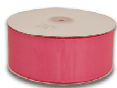 Hot Pink - Grosgrain Ribbon Solid Color 25 Yards - ( 1-1/2 inch | 25 Yards )