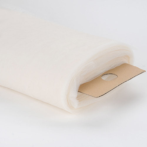 Ivory - 108 Inch Premium Tulle Fabric Bolt - ( W: 108 inch | L: 50 Yards )