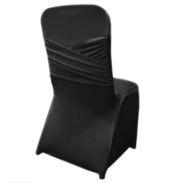 Black - Madrid Spandex Chair Cover - ( Chair Cover )