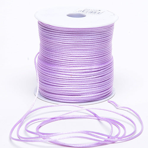 Lavender - 3mm Satin Rat Tail Cord - ( 3mm x 100 Yards )