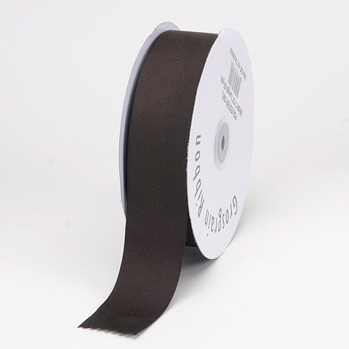 Chocolate - Grosgrain Ribbon Matte Finish - ( 1/4 inch | 50 Yards )