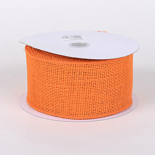 Orange - Burlap Ribbon - ( W: 1-1/2 inch | L: 10 Yards )