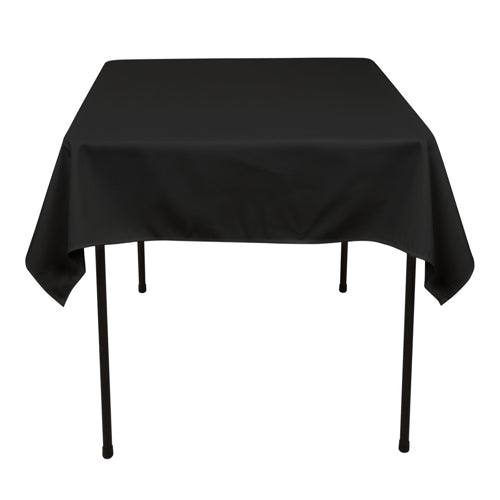 Black - 52 x 52 Square Tablecloths - ( 52 Inch x 52 Inch )
