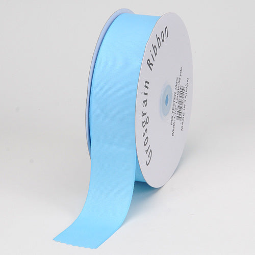 Light Blue - Grosgrain Ribbon Solid Color - ( W: 7/8 inch | L: 50 Yards )