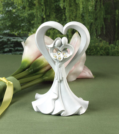 "Wedding Cake Toppers Love's Embrace Cake Top ( ""Love's Embrace"" Cake Top )"