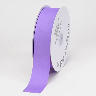 Light Orchid - Grosgrain Ribbon Solid Color - ( W: 7/8 inch | L: 50 Yards )