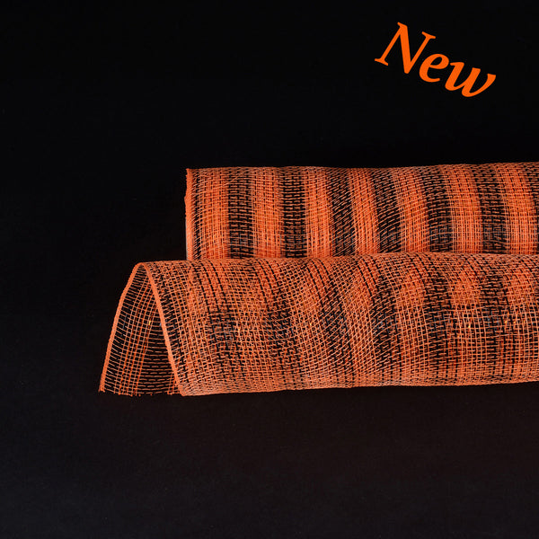 Orange Black Christmas Mesh - 21 Inch x 10 Yards