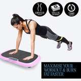 Vibration Machine by Apollo fitness (Pink Oval)