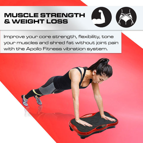 Mini Vibration Machine By Apollo Fitness (Red)