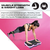 Mini Vibration Machine By Apollo Fitness (Pink)