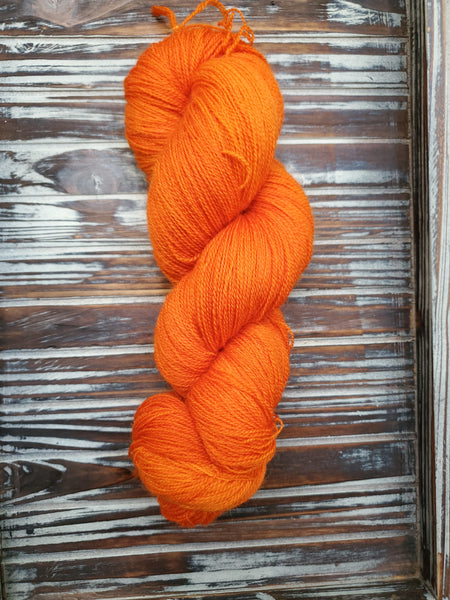 Pumpkin 100g Bluefaced Leicester Lace 875 yards