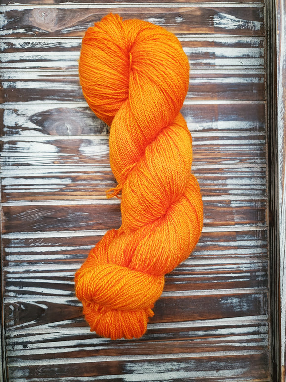 Orange 100g  Bluefaced Leicester Lace 875 yards