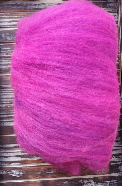 Disco Purple Batts Bluefaced Leicester/Silk/Merino/Sparkle