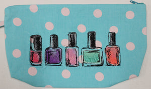 Embroidered 5 Bottles of Nail Polish Bags 6x11